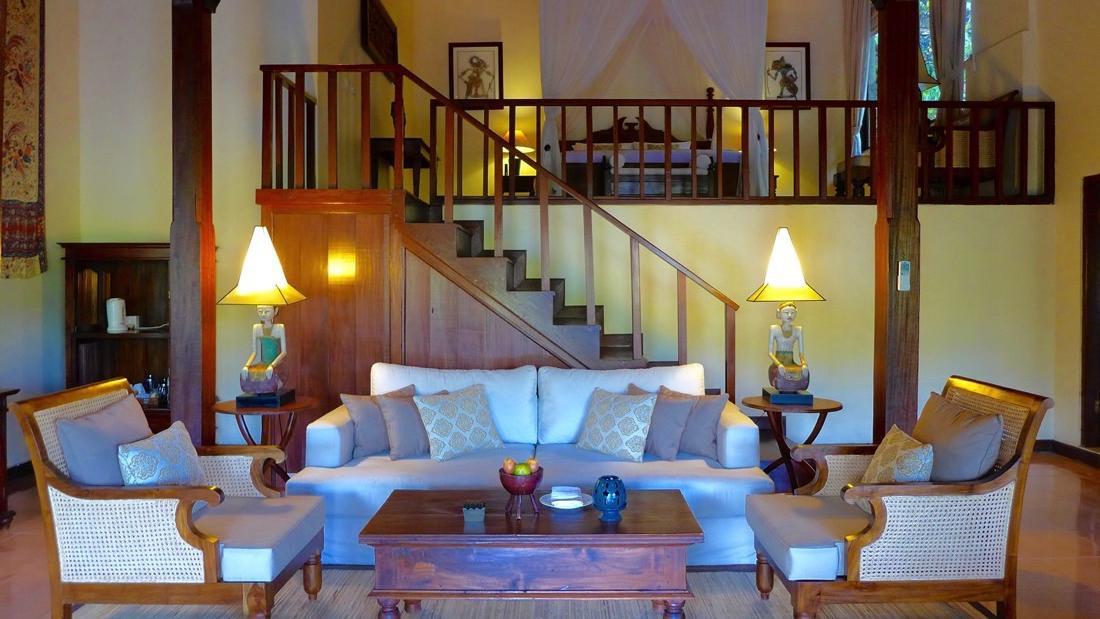 One-Bedroom Pool Villa Sitting Area at Warwick Ibah