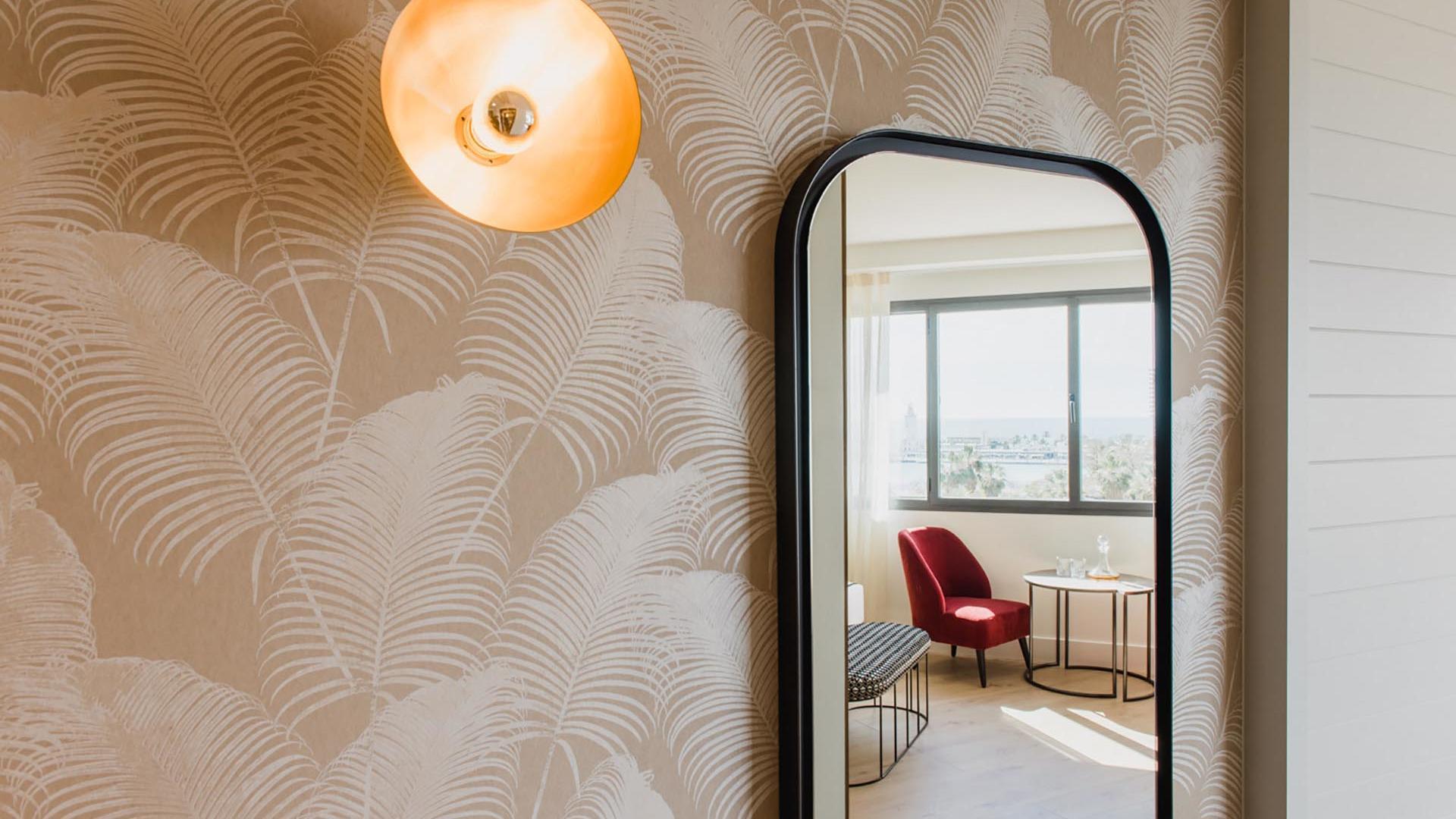 Deluxe Room Mirror  at Hotel Molina Lario
