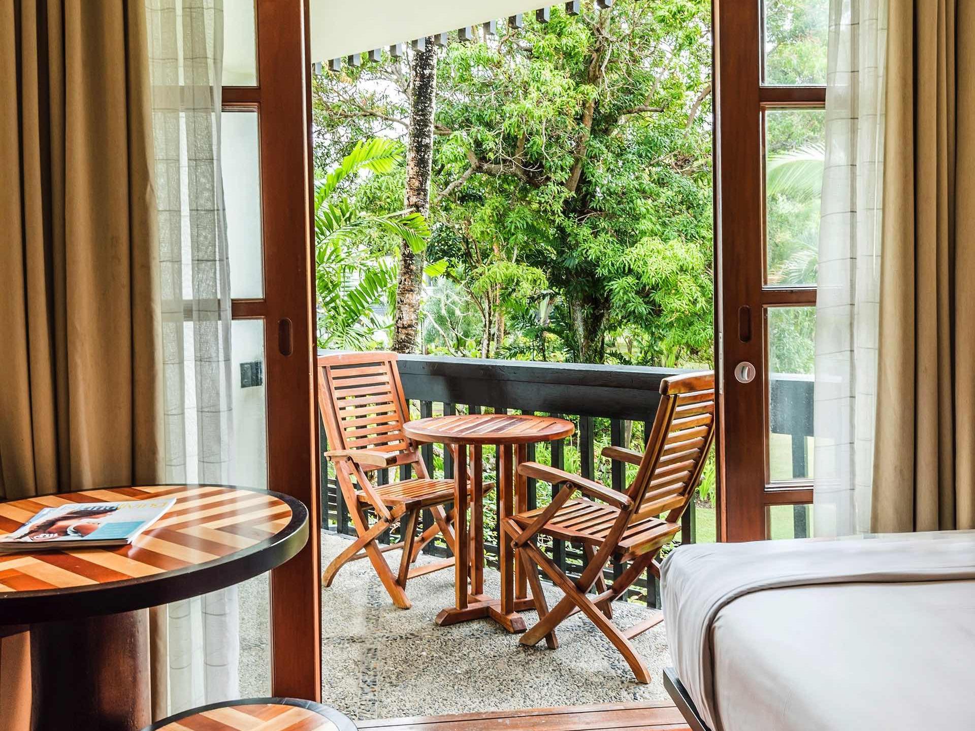 Ocean View Room Deck at Warwick Fiji