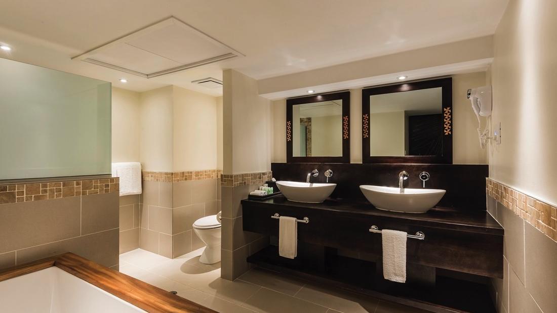 Suite Bathroom at Warwick Fiji
