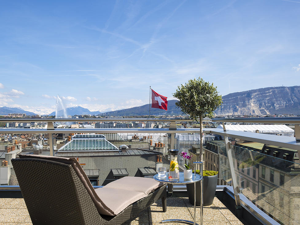Penthouse Terrace with Alps Views