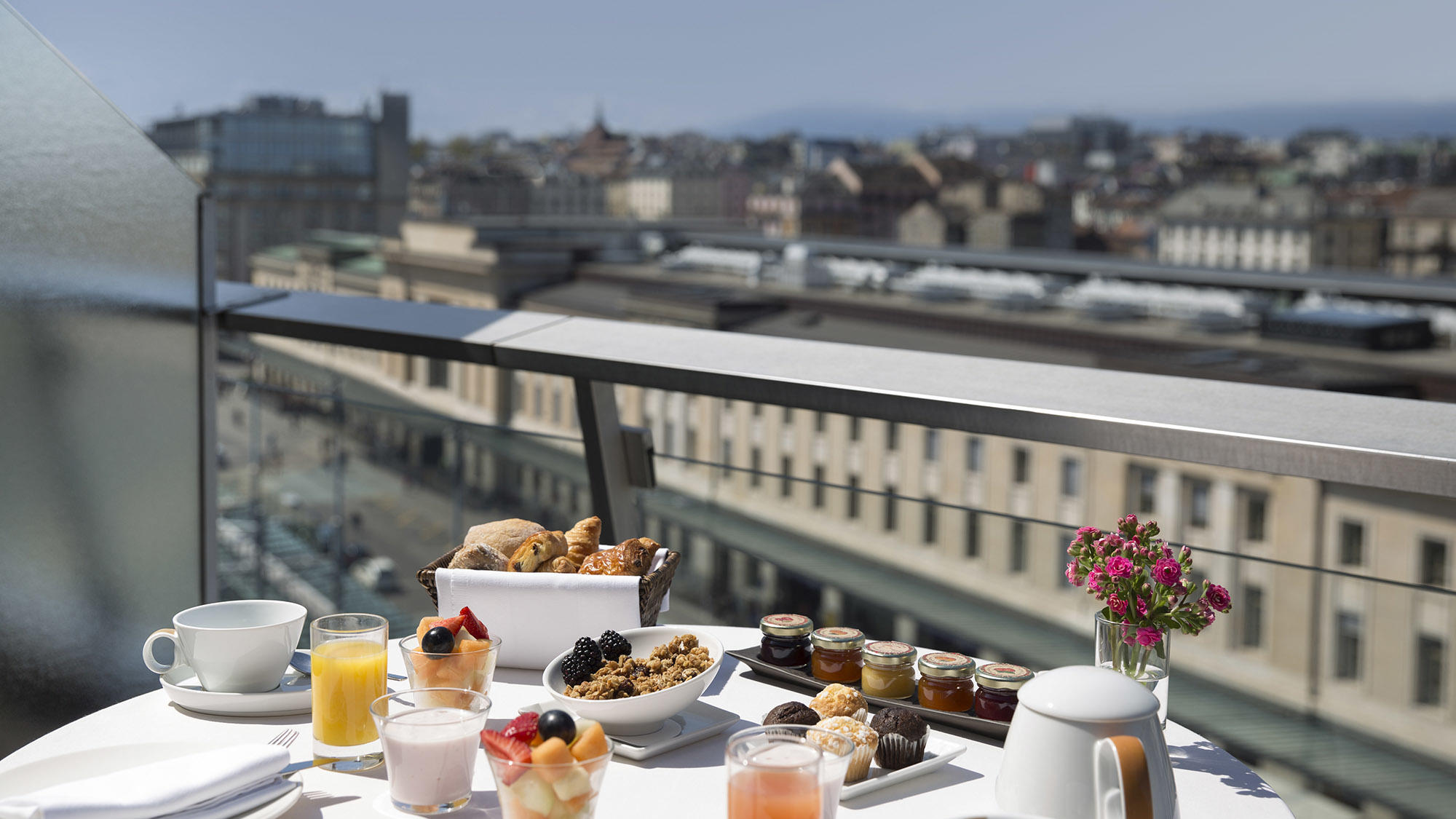 Warwick Geneva Penthouse Executive Breakfast on Terrace