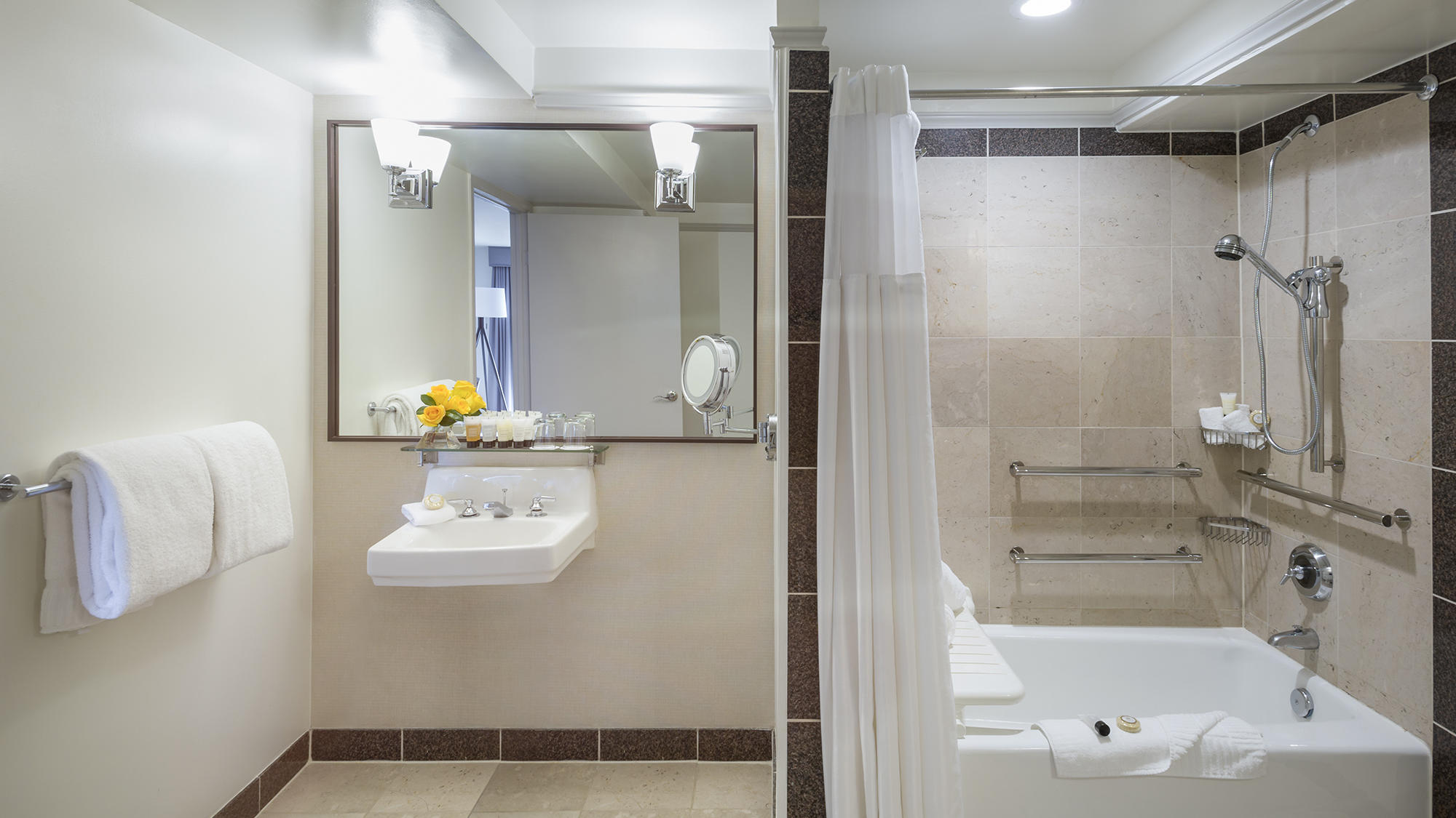 ADA bathroom at Warwick Denver