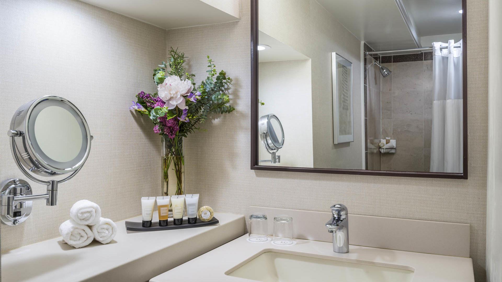 Premiere  Suite Bathroom Sink at Warwick Denver