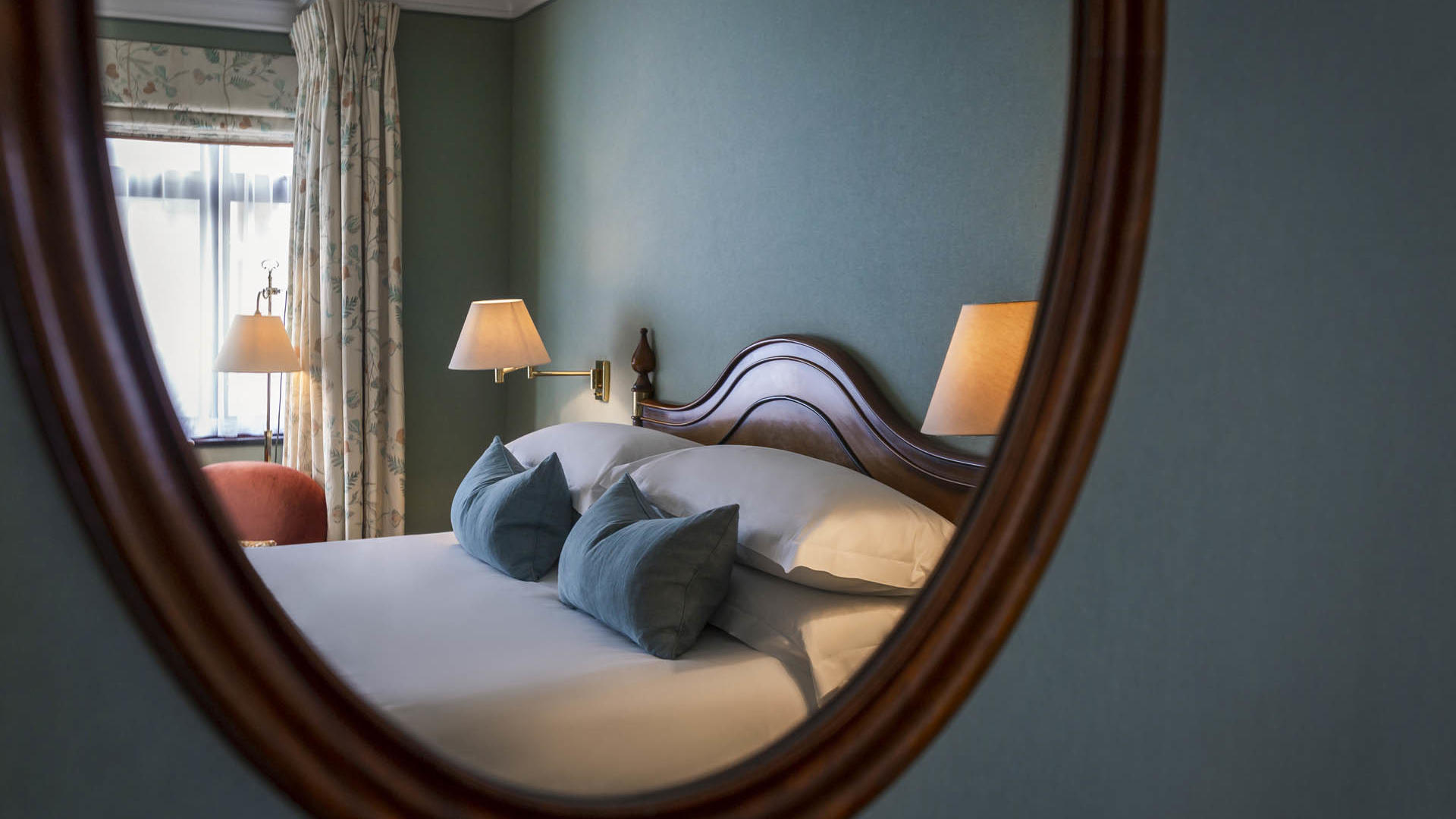 Superior King Room Bed View on a Mirror