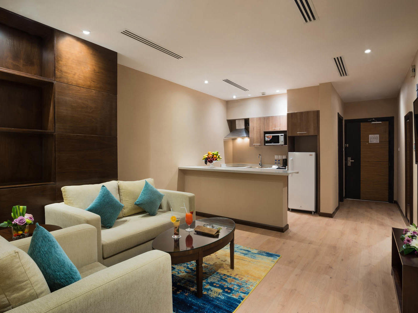 Family Suite Living Area at Naviti by Warwick Dammam