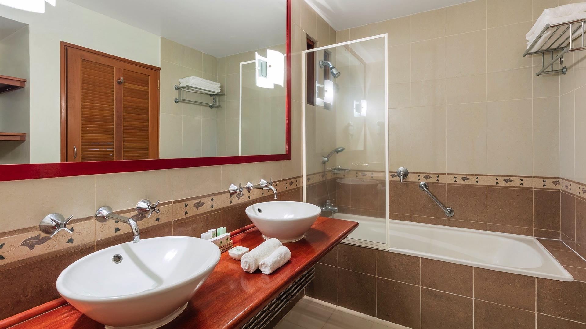 Family Supeior Room Bathroom at Naviti Resort