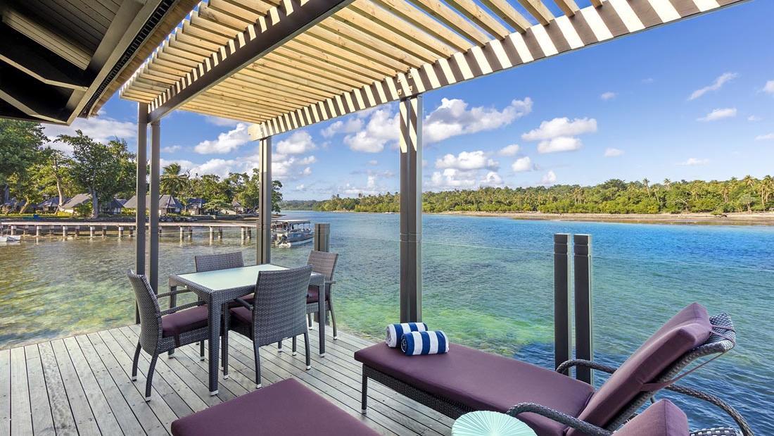 Overwater Villas Balcony at Warwick Le Lagon Vanuatu