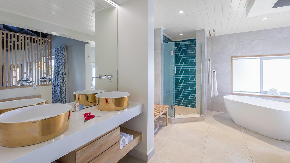 Overwater Villas Bathroom at Warwick Le Lagon Vanuatu