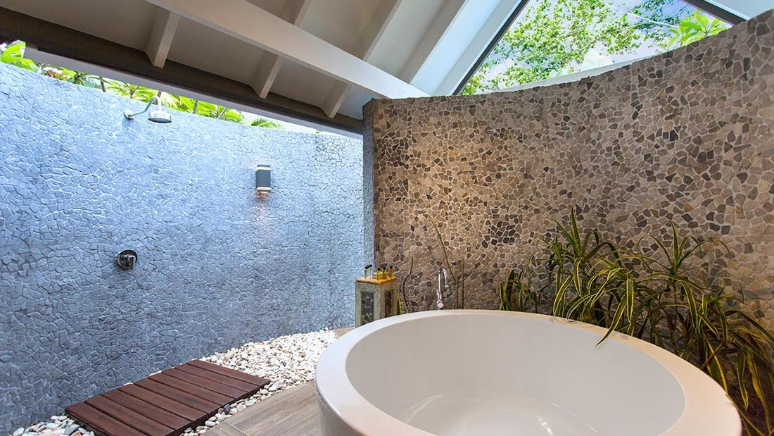 Efate Outdoor Shower at Warwick Le Lagon Vanuatu