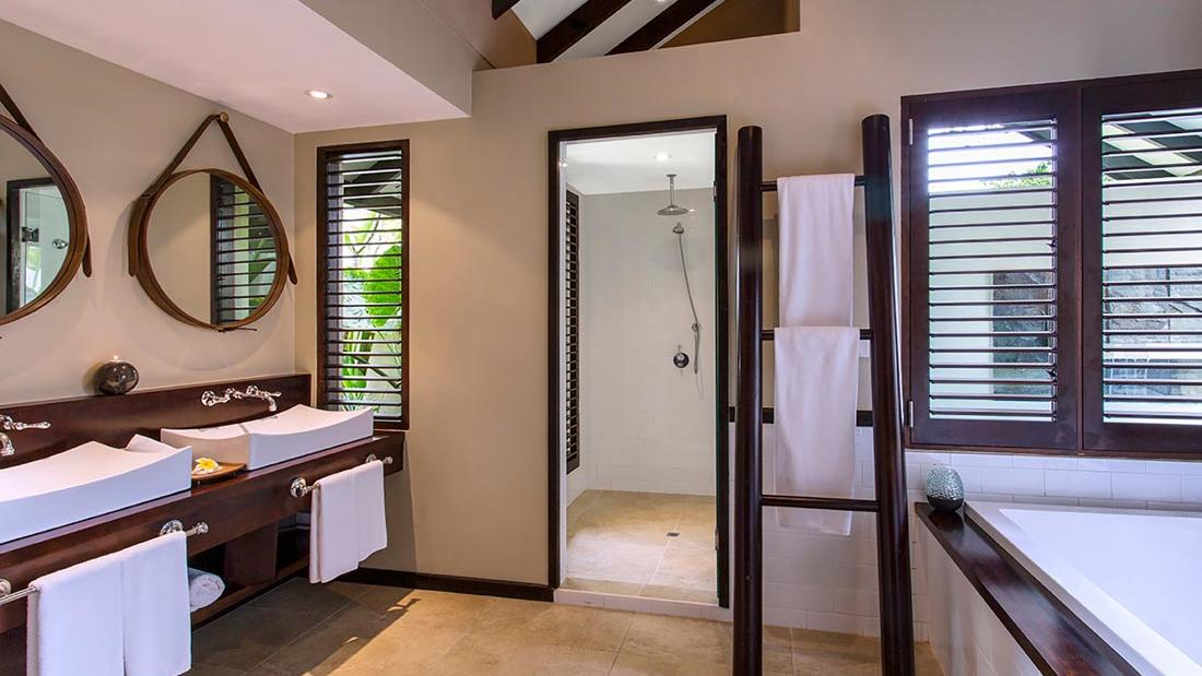 Pacific Pool Villa Shower at Warwick Le Lagon Vanuatu