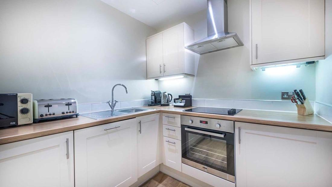 Apartment 509 kitchen at The Capital by Warwick