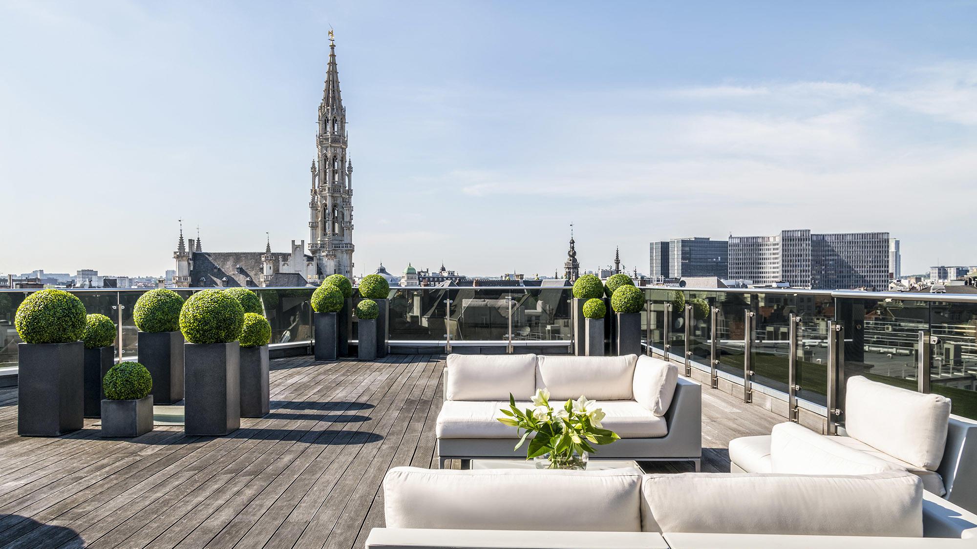 Suite Grand Place Terrace Lounge Area