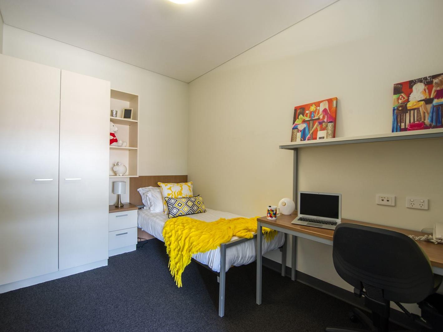 Bedroom with Study Desk and Wardrobe
