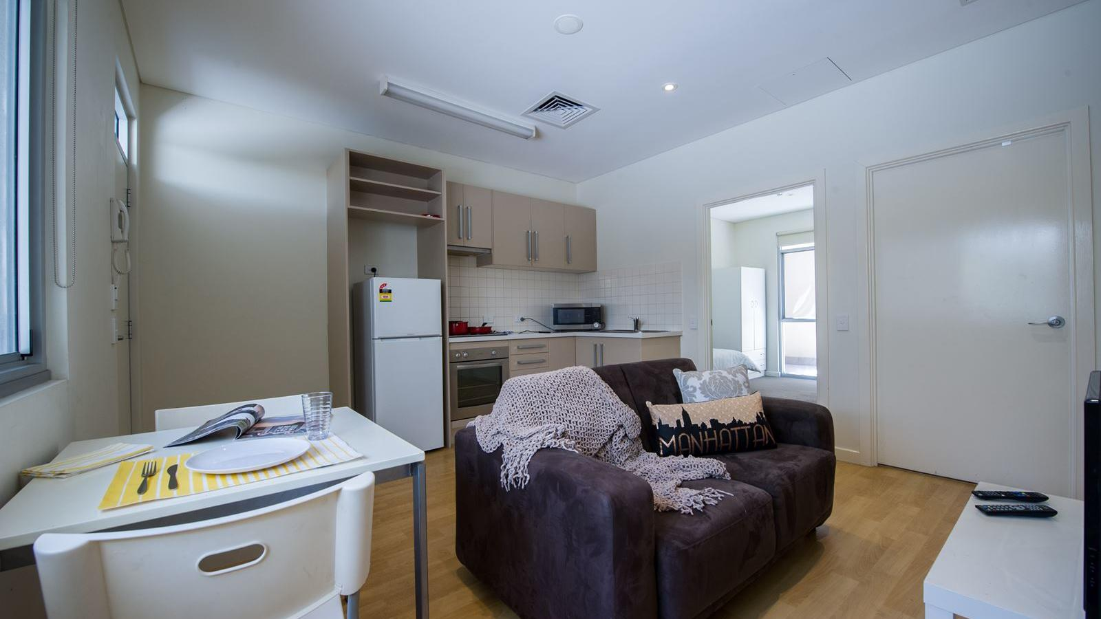 Student Living - City West_Typical 2 bedroom fully furnished apartment