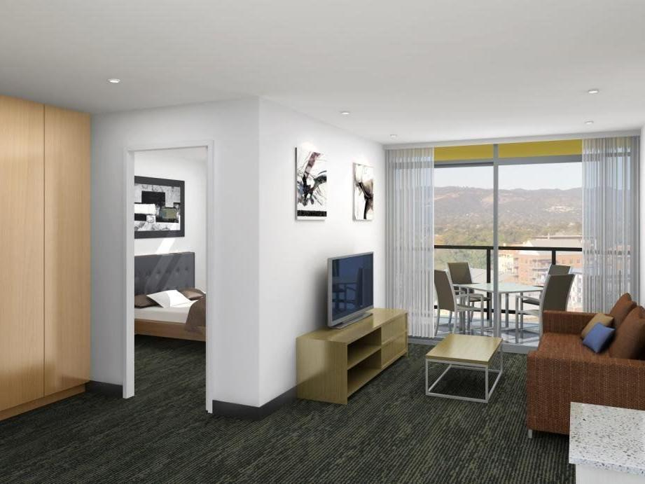 Student Living Edge Apartments – East End living area_Serviced Apartments Adelaide