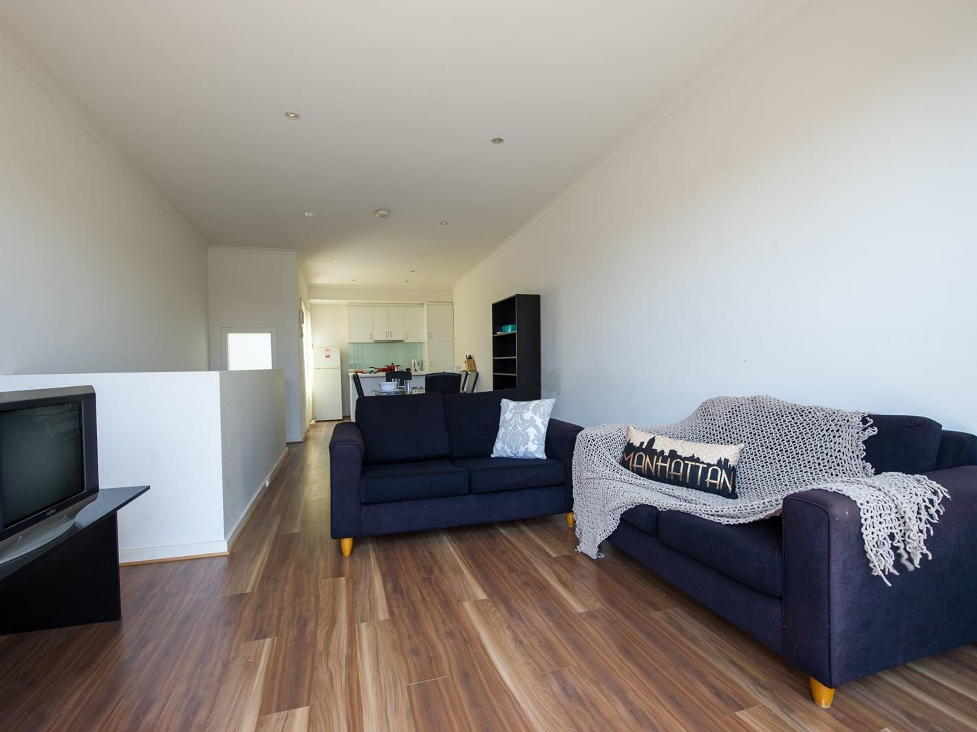 Student Living Edge Apartments – Grote Street Building - Typical second level, fully furnished open plan living area