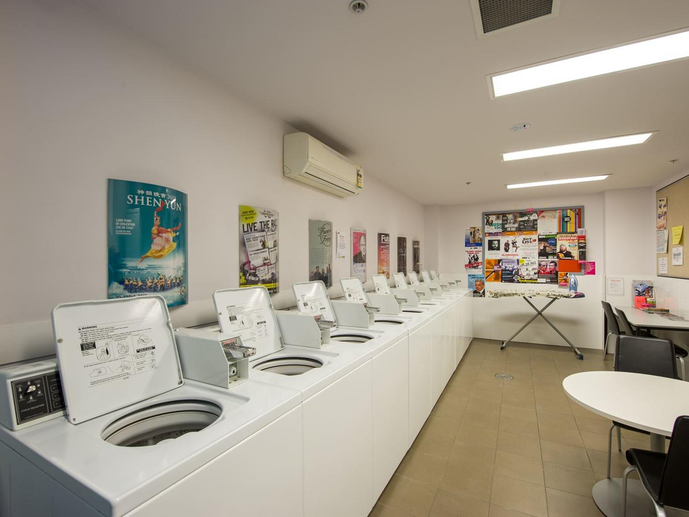 Laundry on the ground level available for all residents to use – additional fees apply