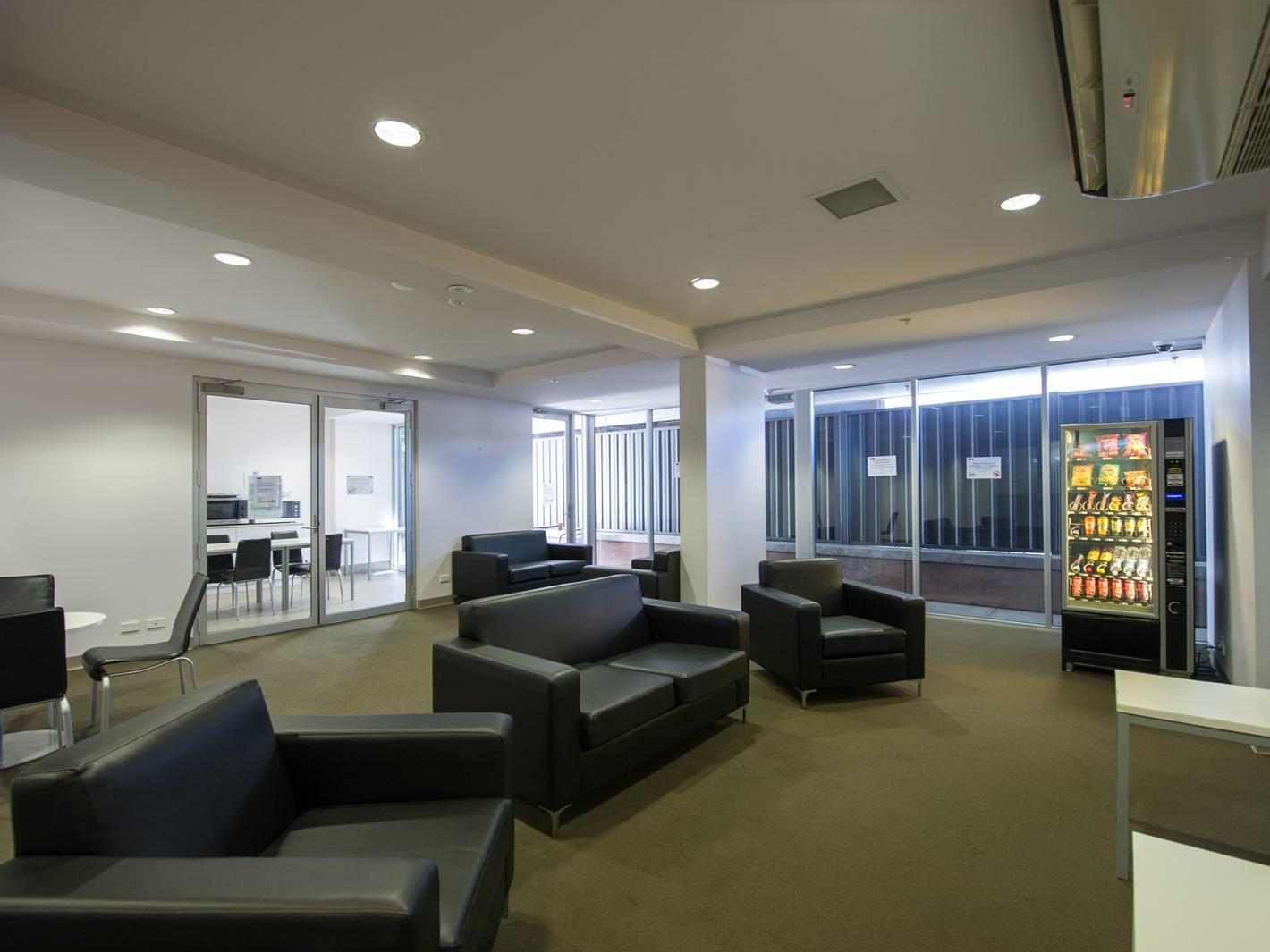 Resident lounge on the ground level available for all residents to use