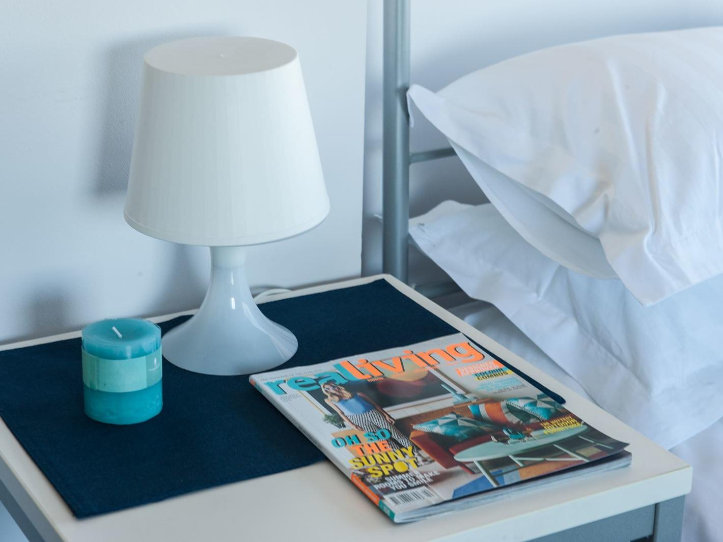 Typical bedside table - purchase hotel quality linen via our online shop, Your Shop