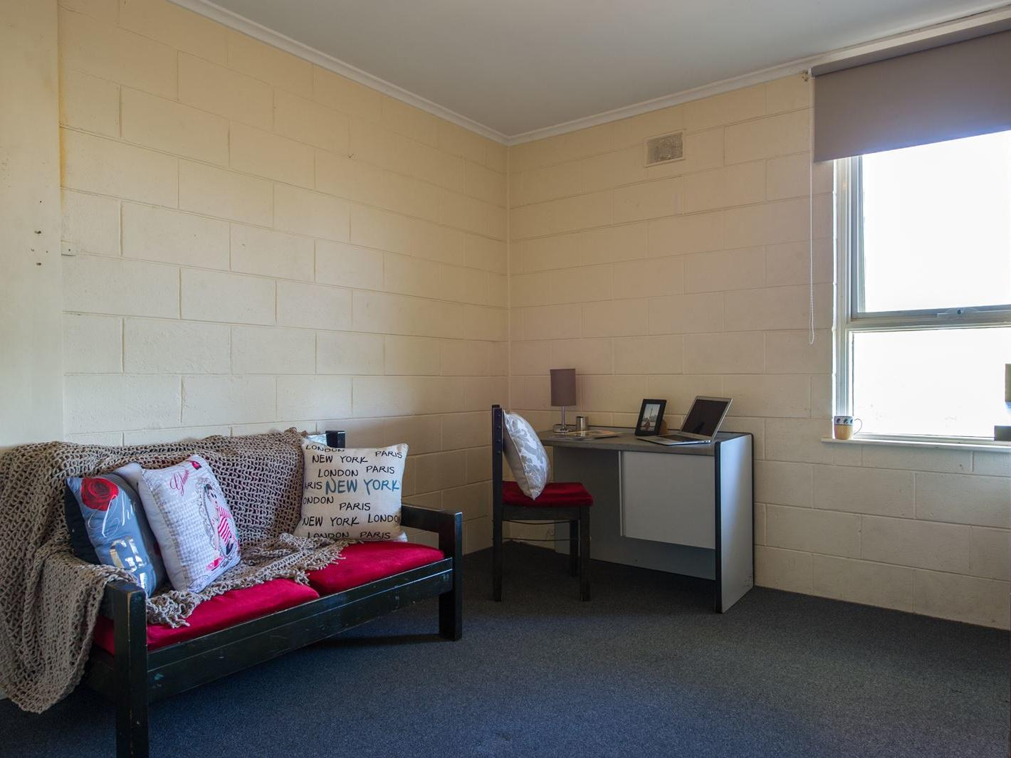Student Living – Kent Town Adelaide_Typical lounge/kitchen area in the 1 bedroom apartments