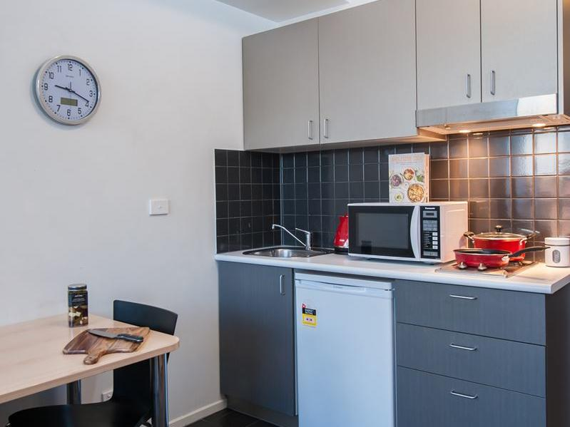 Kitchen in studio apartment - purchase a kitchen kit and many other great products from our UniLodge online shop, Your Shop