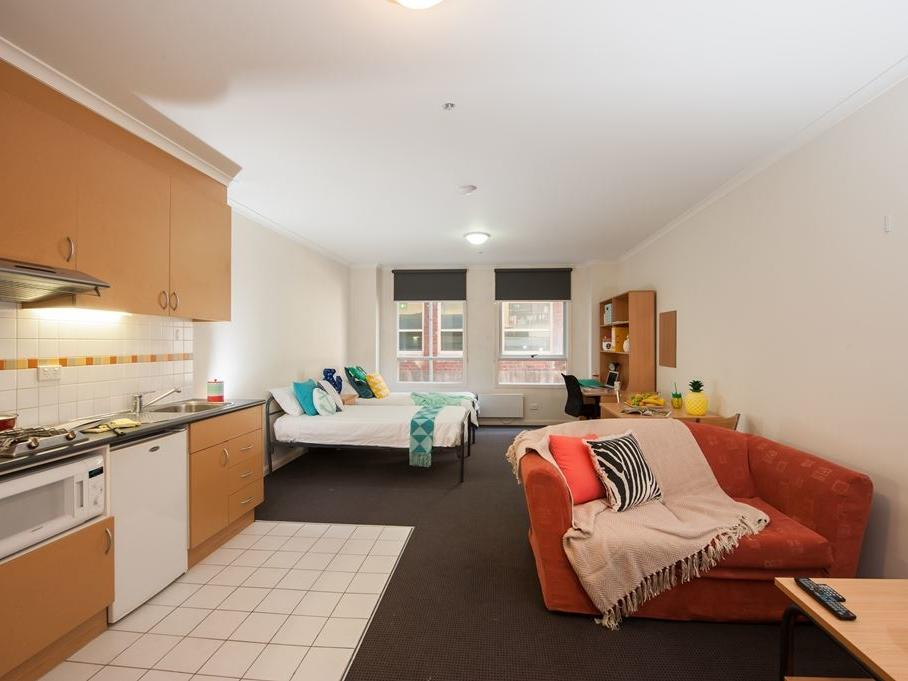 Twin studio apartment at UniLodge on Flinders