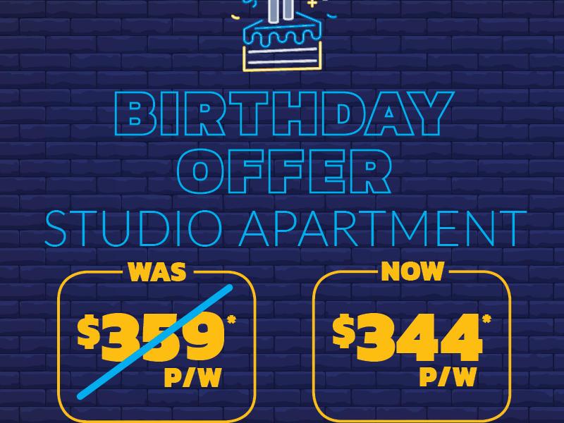Birthday Offer_Studio Apartment