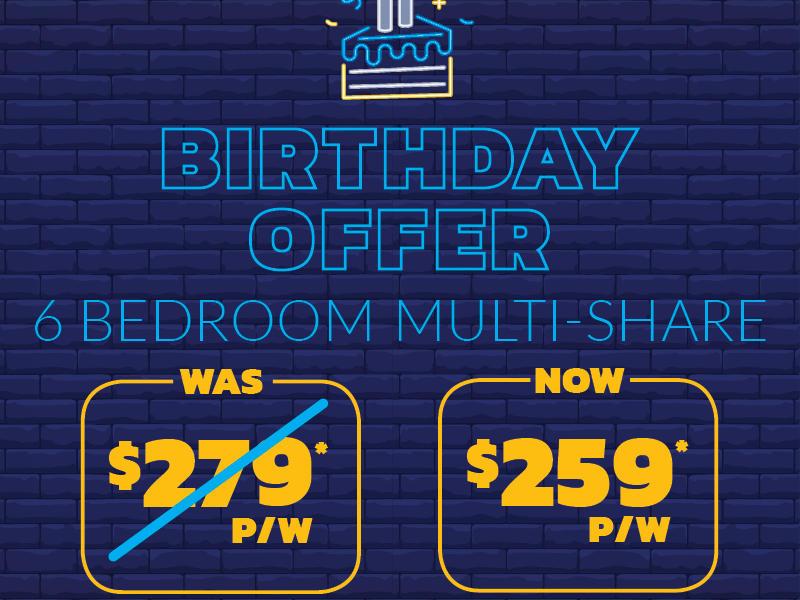 Birthday Offer_6 Bedroom Multi Share