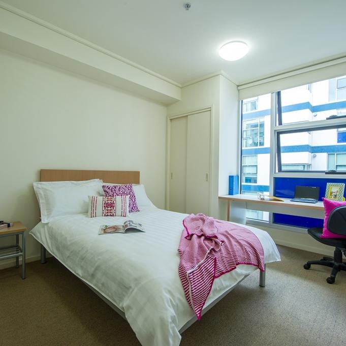 College Square on Swanston 1 Bedroom Double Bedroom
