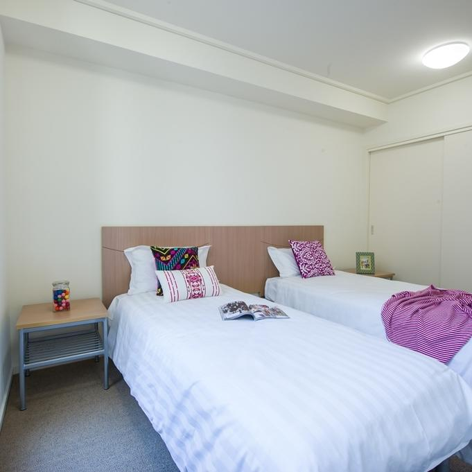 College Square on Swanston 1 Bedroom Apartment Twinshare Bedroom