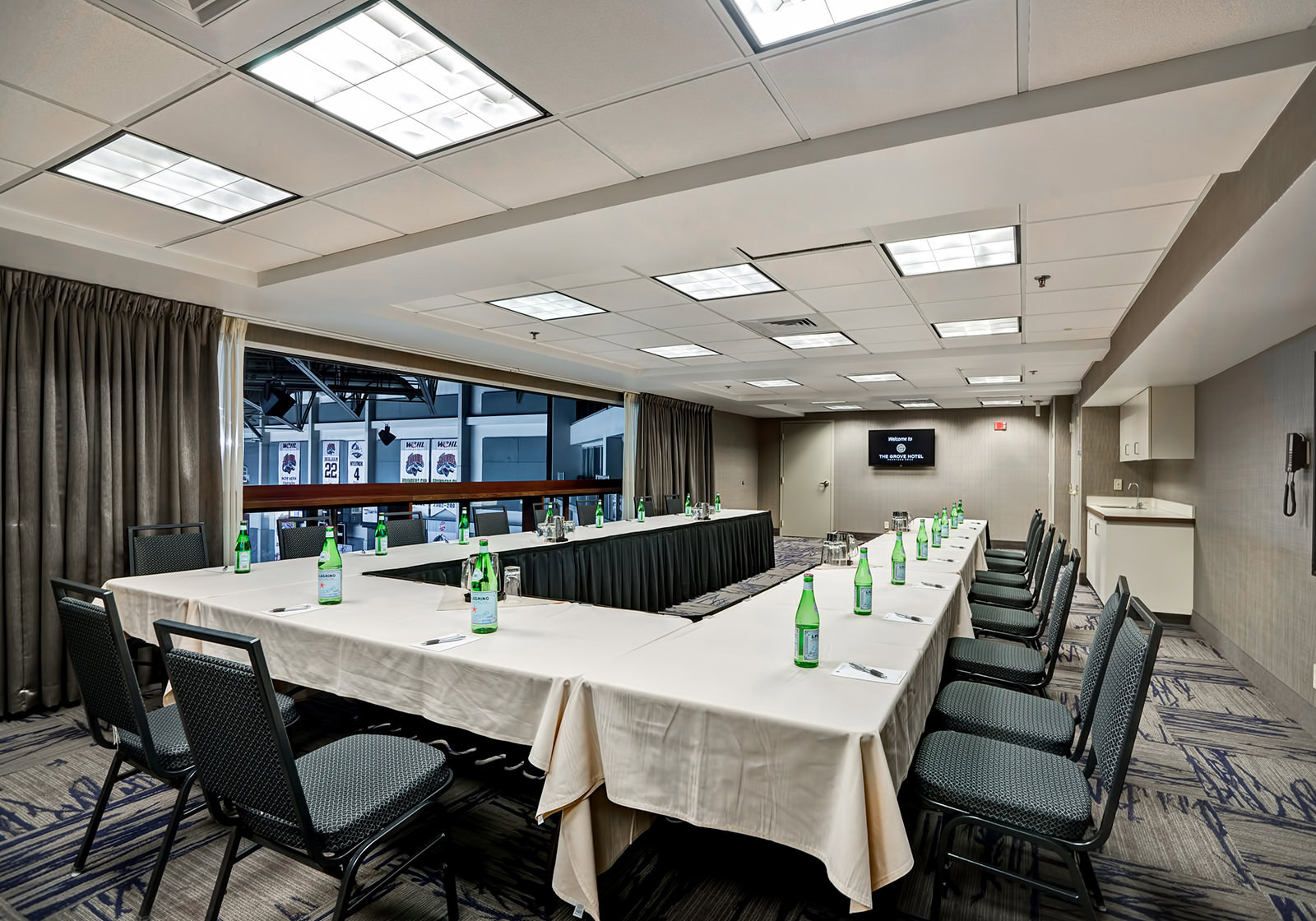 a u-shaped conference table