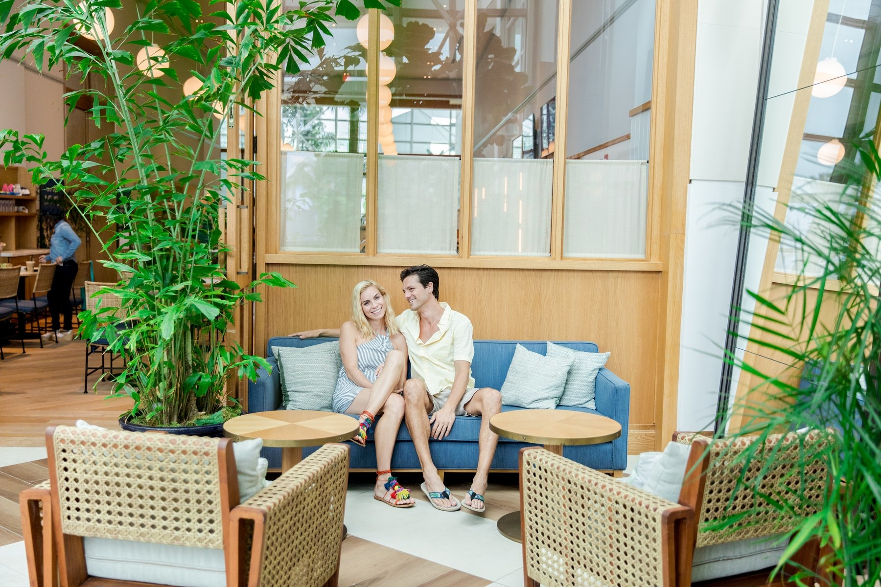Couple Lounging at lobby