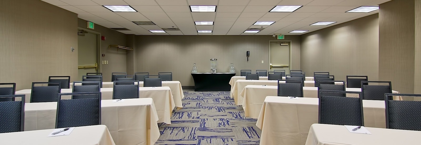 A meeting room at The Grove Hotel