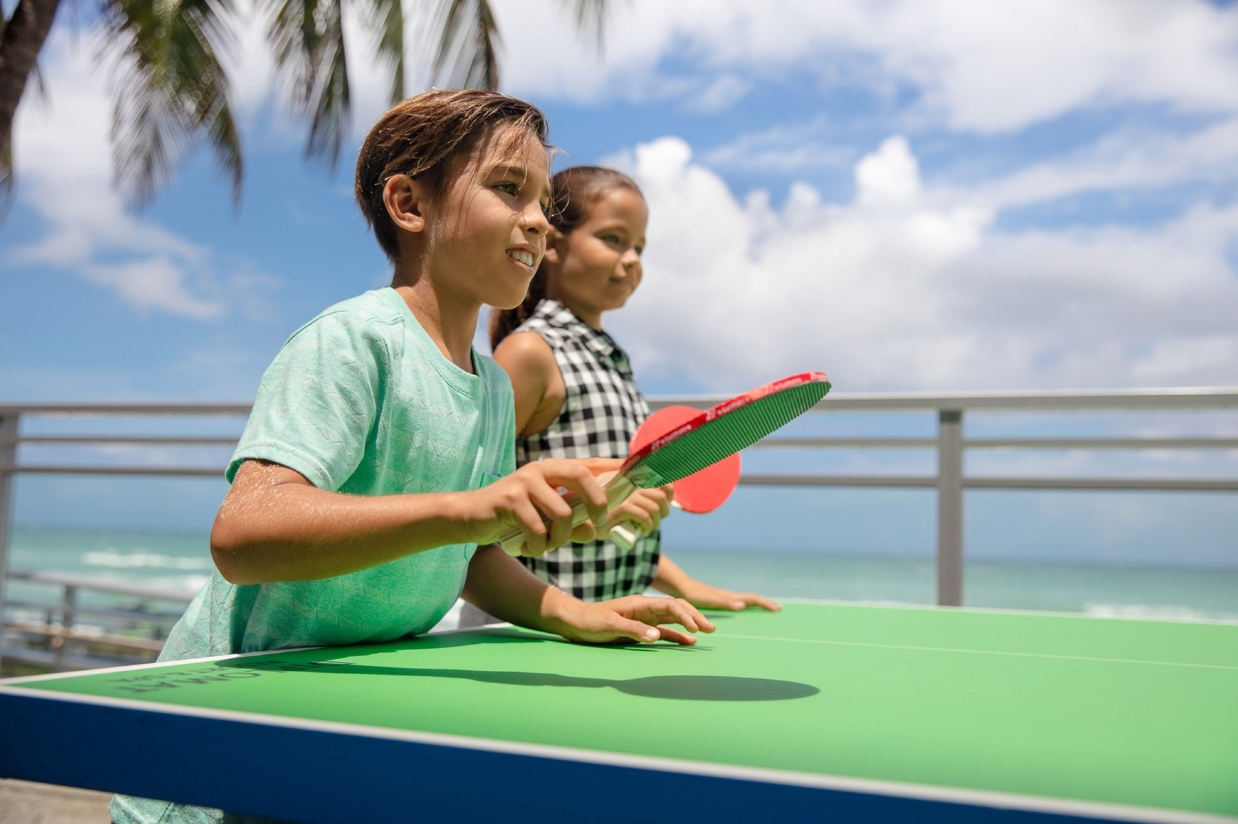 Kids playing pingpong