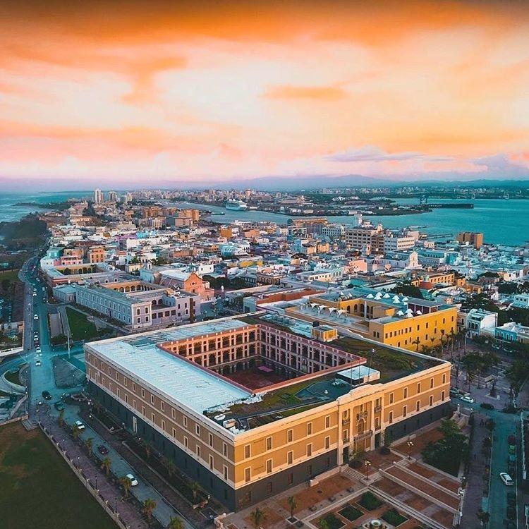 Hotel El Convento aerial view