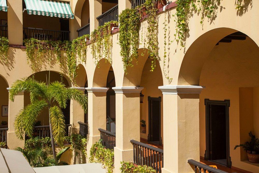 Hotel interior balconies