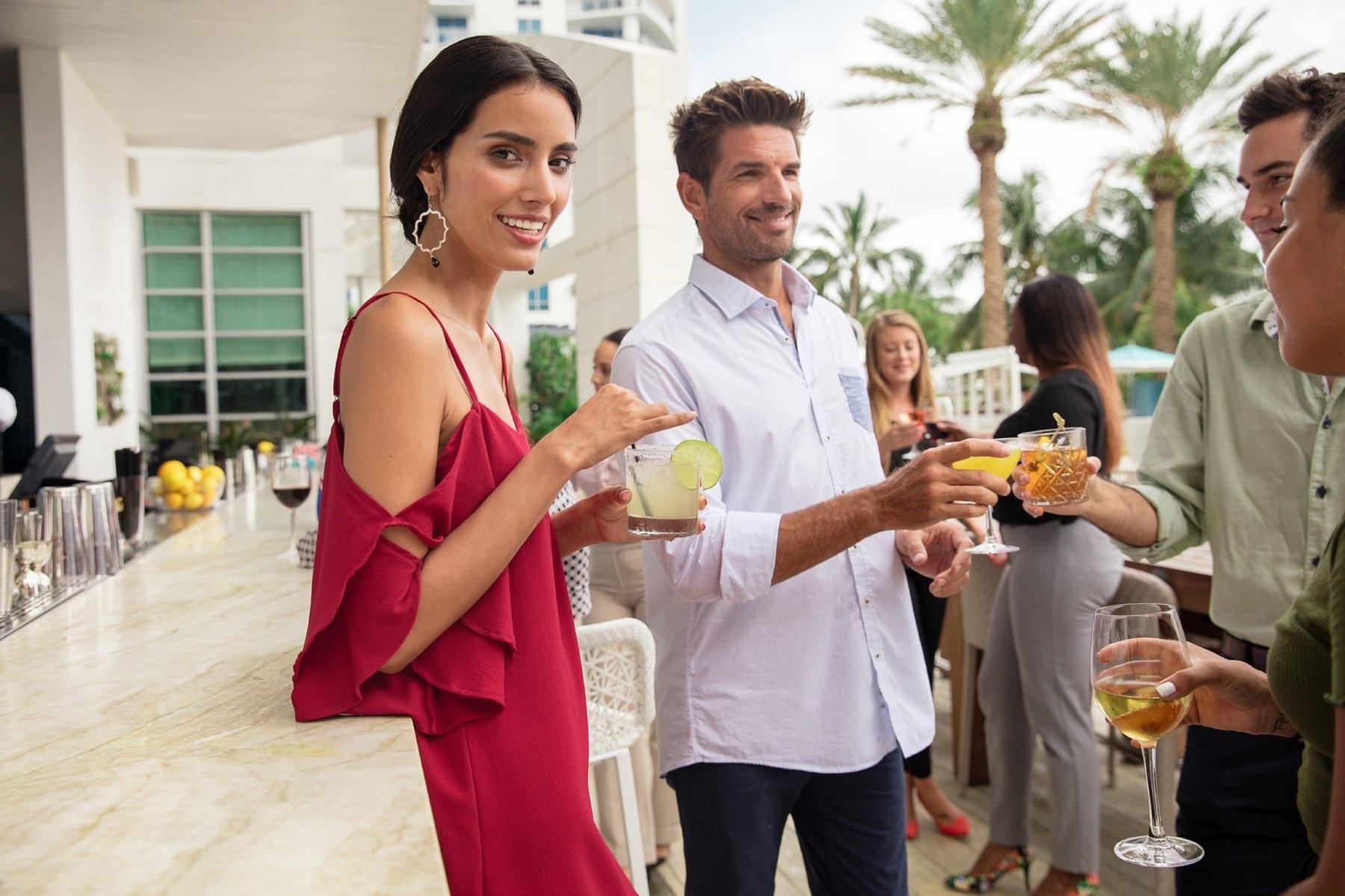 Gathering at Hotel Bar - The Diplomat Beach Resort, South FL