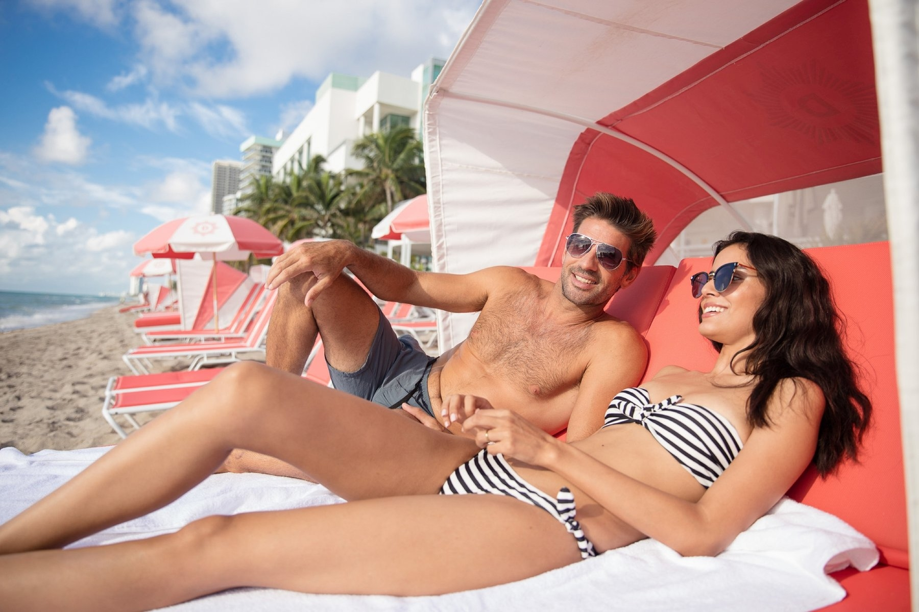 Couples in a Cabana - The Diplomat Beach Resort, Miami, FL