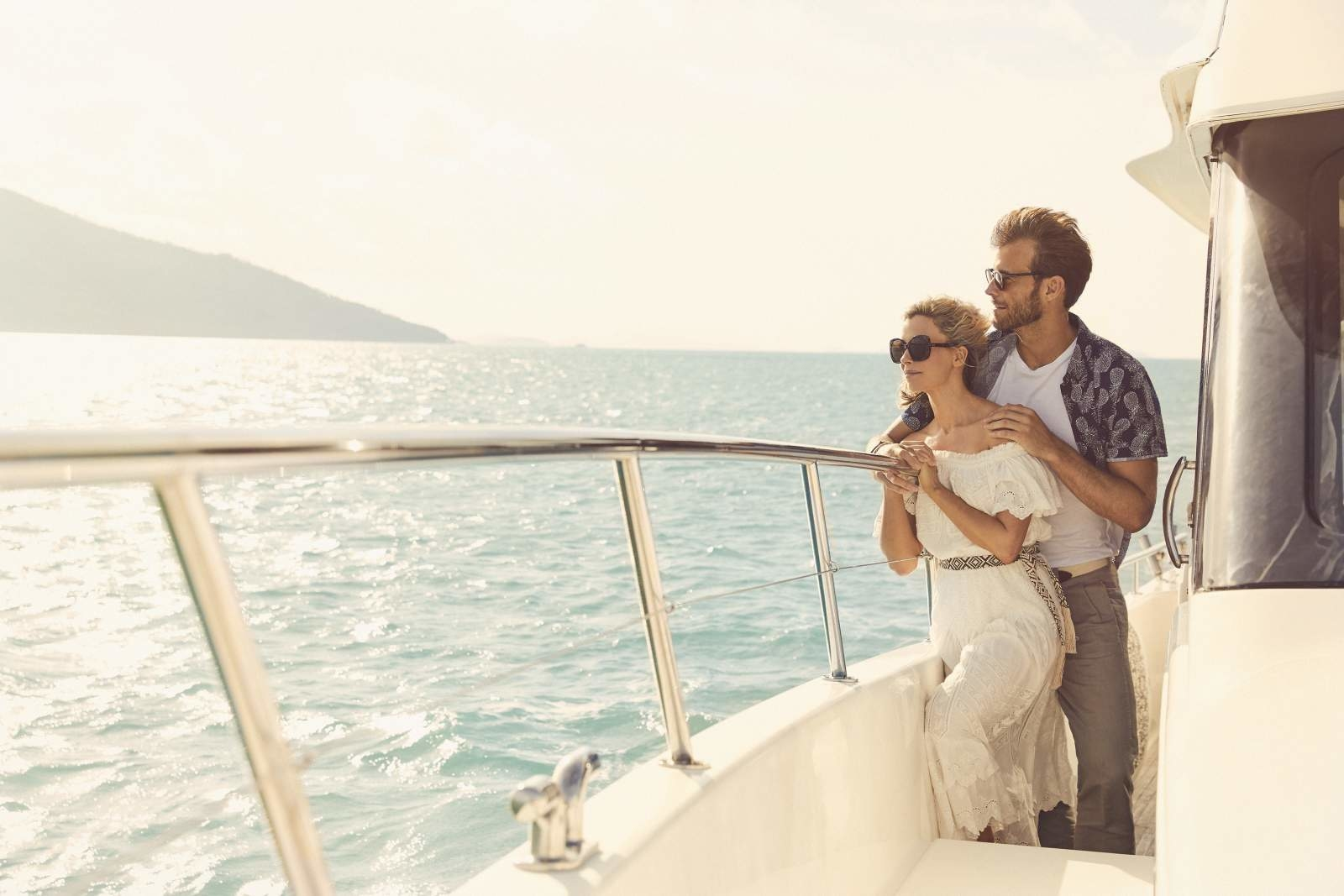 Couple on yacht at Daydream Island Resort