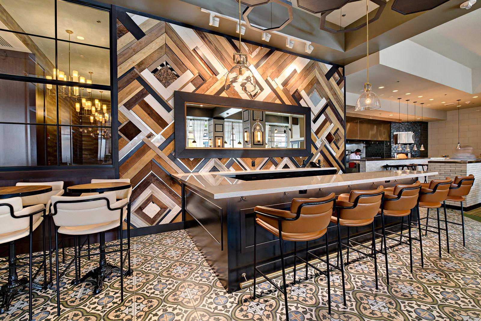 Trillium Wine Bar and Mixed Media Wall