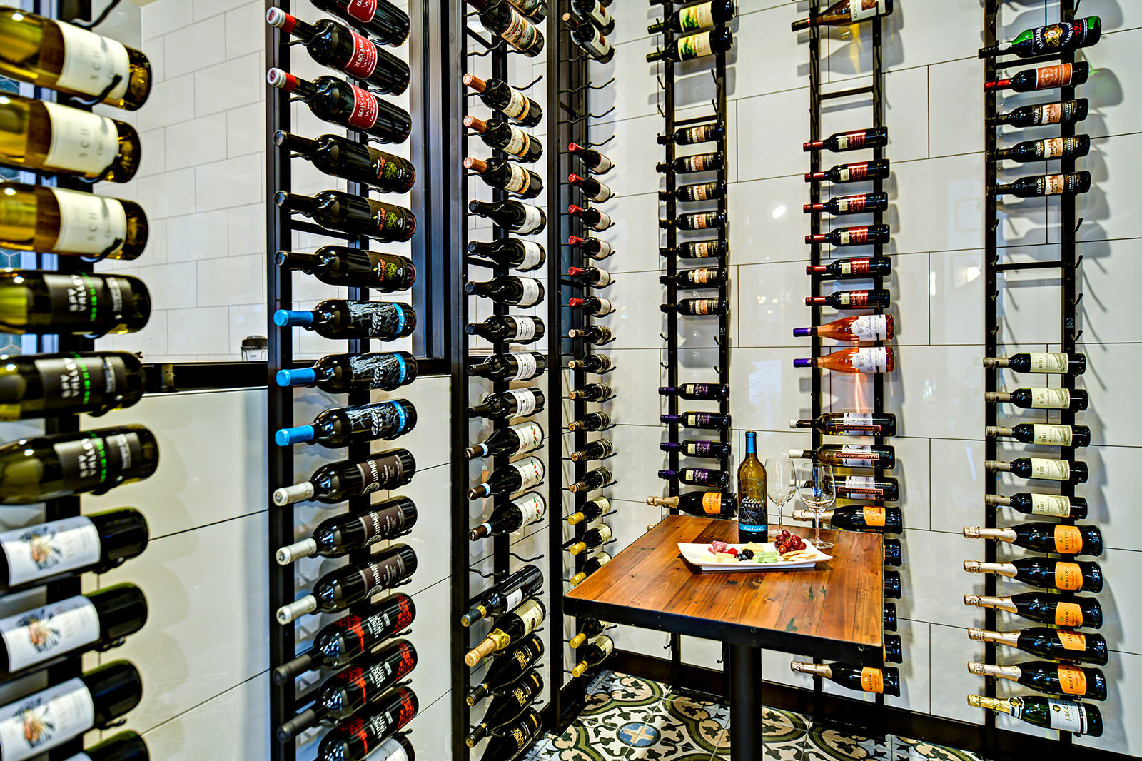 Wine storage at Trillium Restaurant