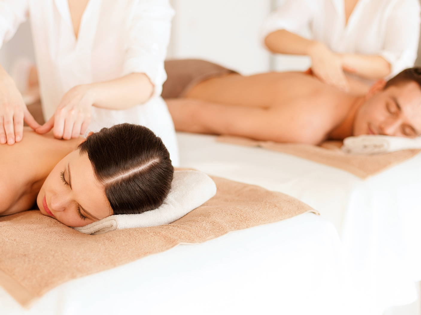 two people receiving a massage