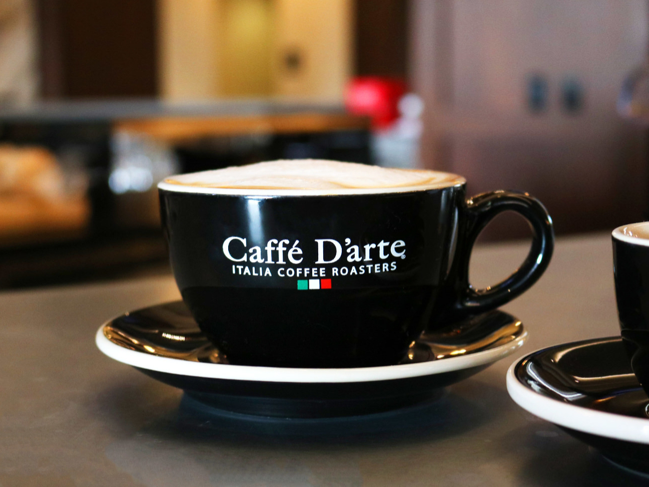 Caffe Darte late at the Grove Hotel coffee bar