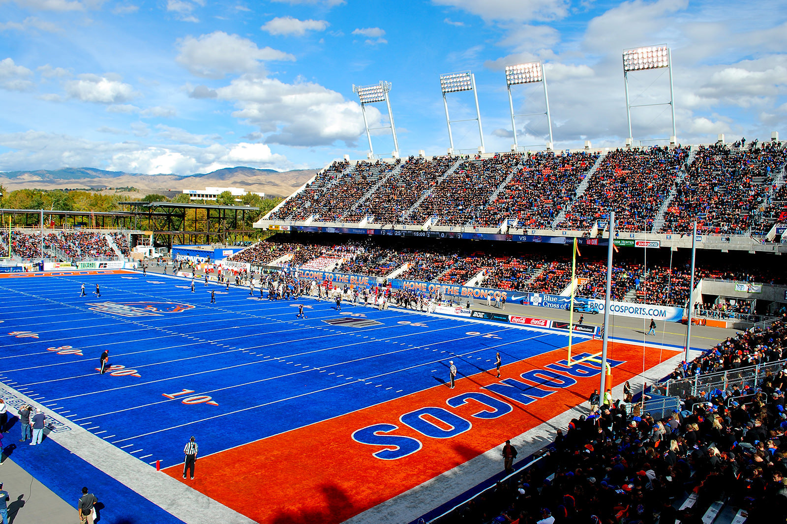 Albertsons Stadium's blue turf