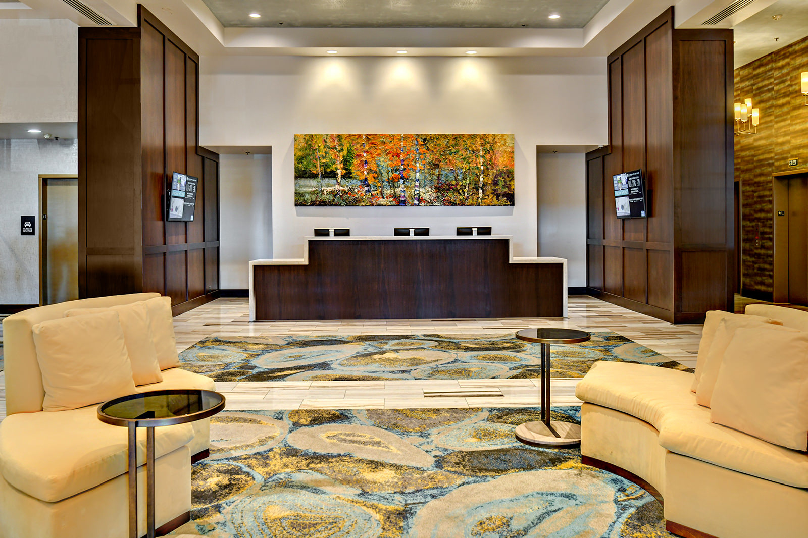 Grove Hotel Front Desk and lobby