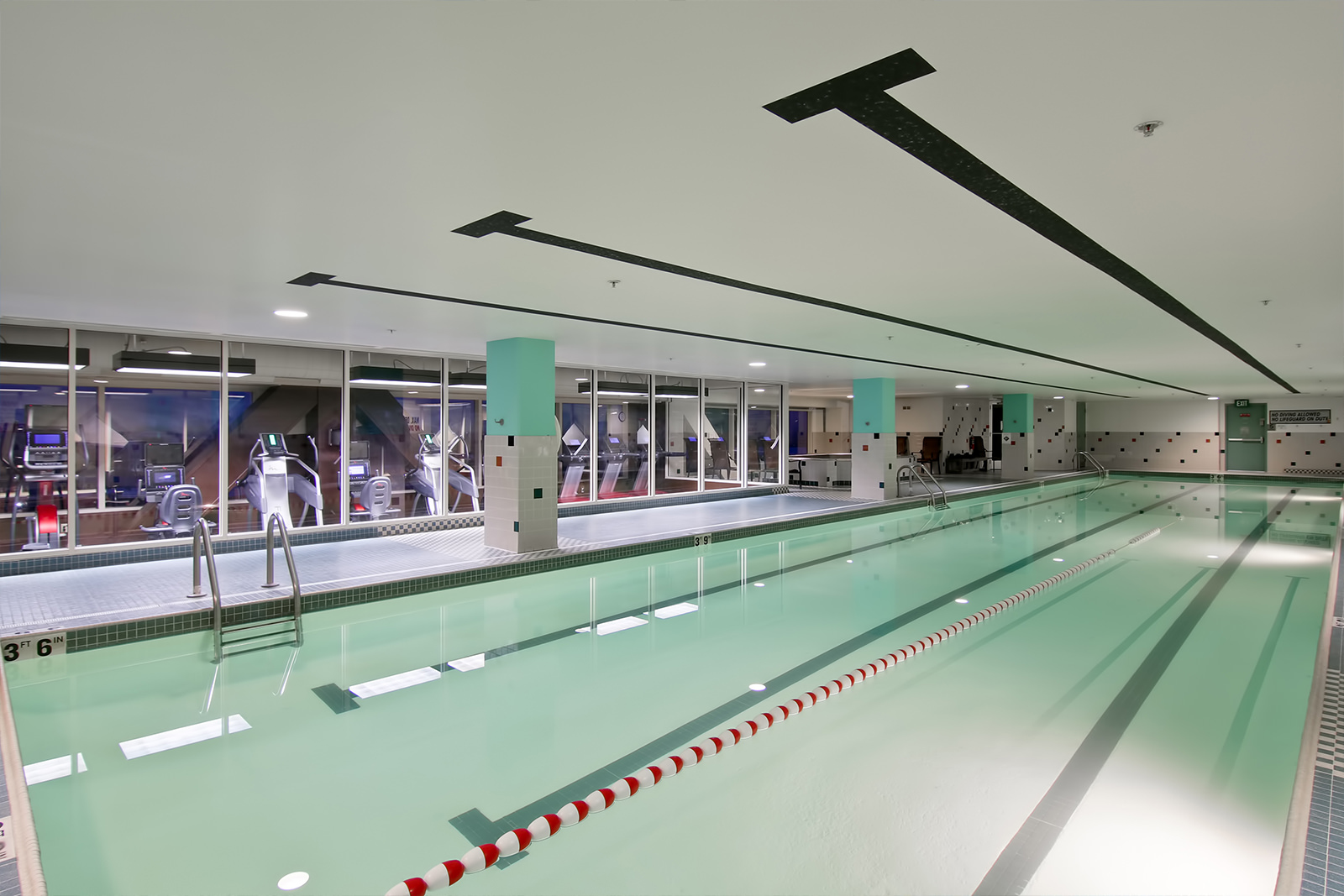 Lap pool at The Grove Fitness Club & Spa
