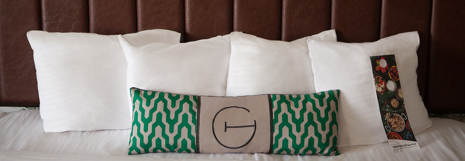 pillows on a bed