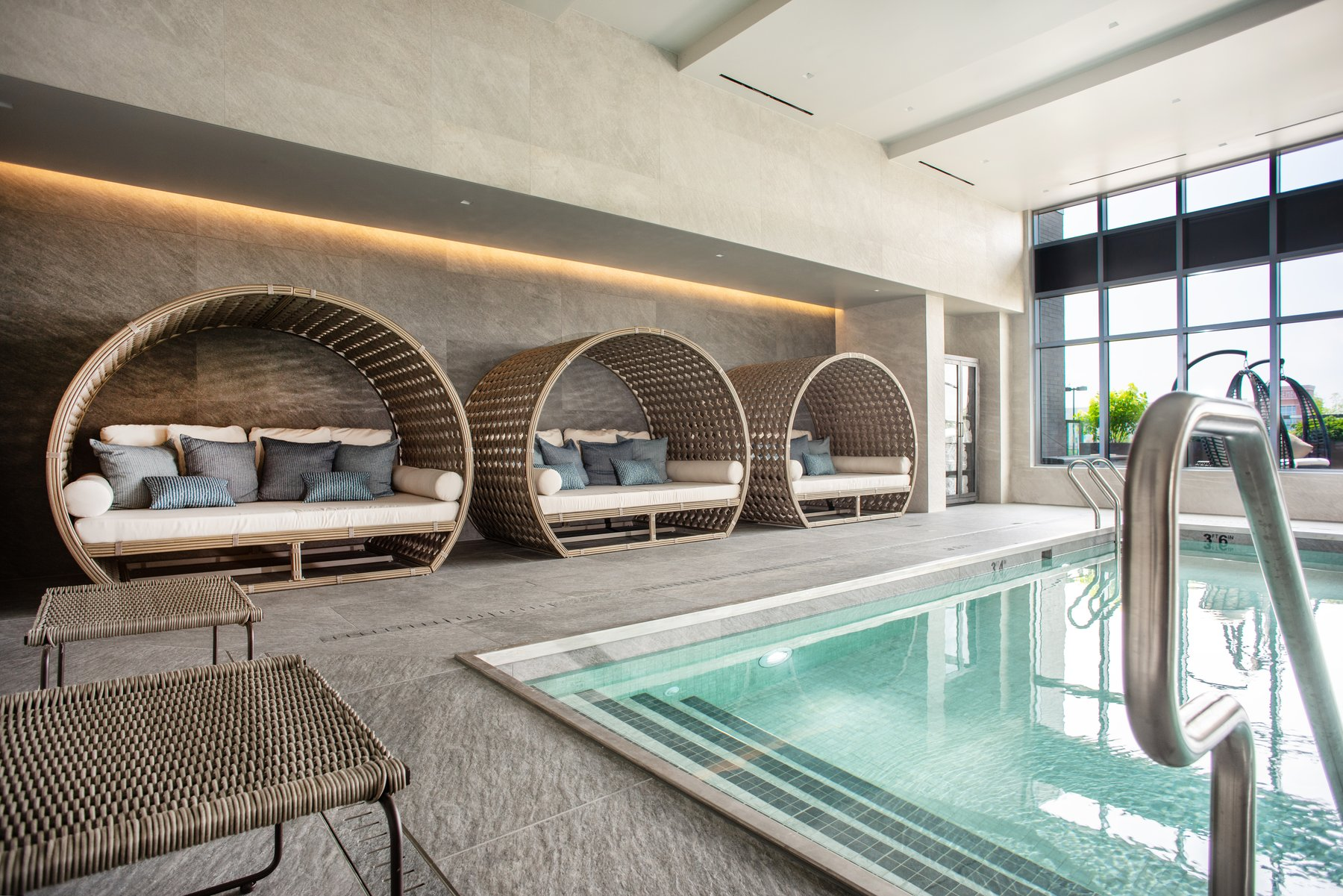 Indoor Pool Cabanas
