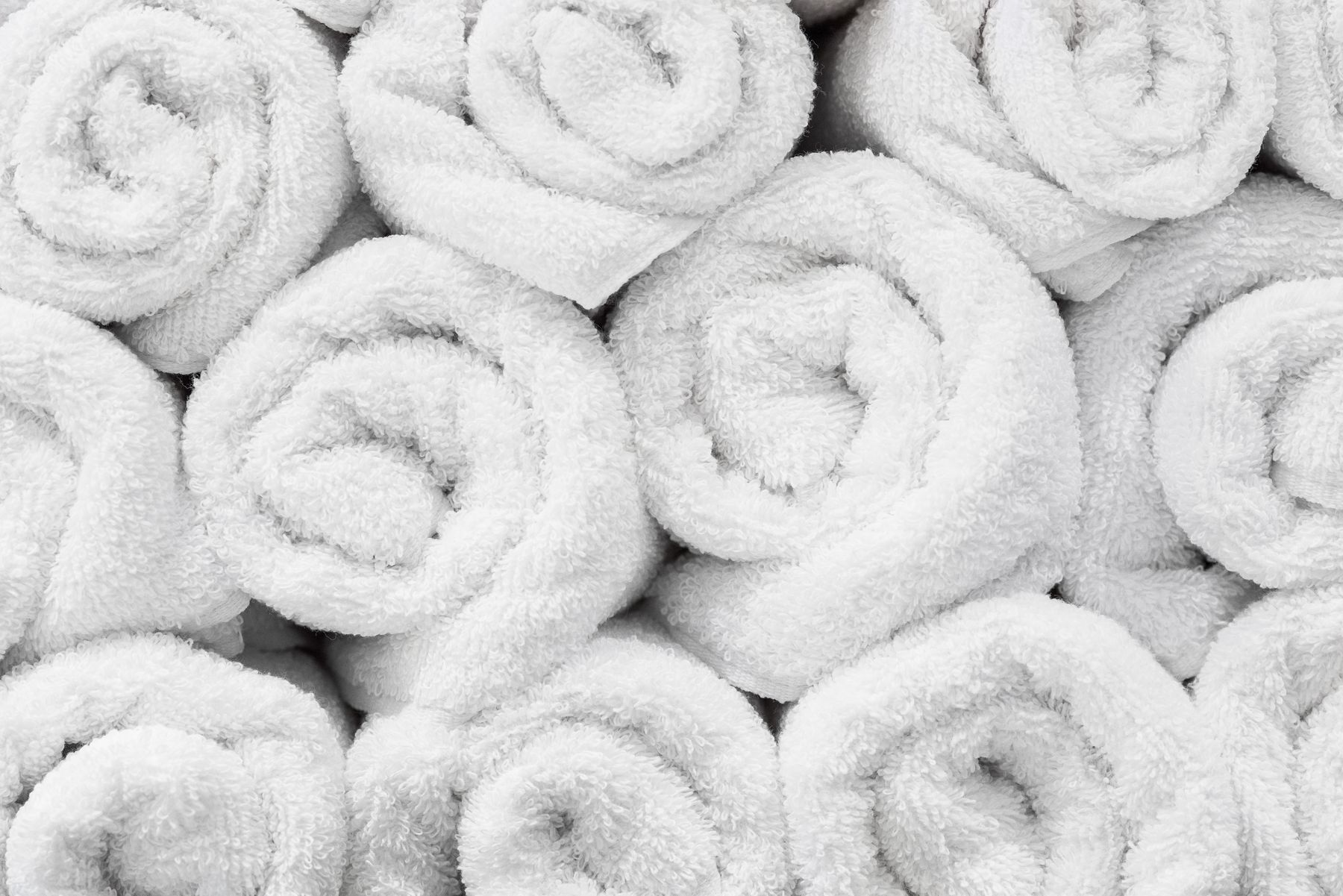 Detail photos of rolled towels